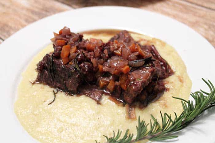 Smoked Gouda Polenta and Braised Beef Short Ribs | 2 Cookin Mamas