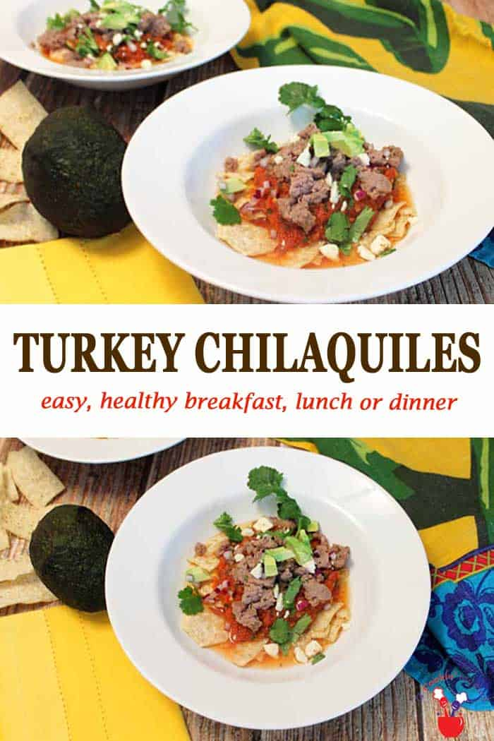 Turkey Chilaquiles 1 | 2 Cookin Mamas These healthy turkey chilaquiles, from Jennie-O & Biggest Loser, are easy to make, nutritious & low in calories. Great for breakfast, lunch or dinner. #chiliquiles #turkey #healthy #dinner #lunch #breakfast #recipe #sponsored