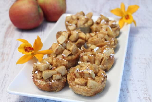 Apple French Toast Cups closeup|2CookinMamas