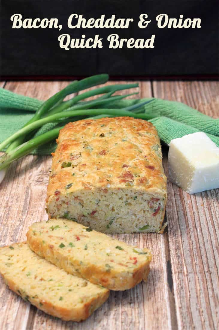 Bacon Cheddar and Onion Quick Bread | 2CookinMamas A quick and savory bread that is so easy to make and tastes out of this world.