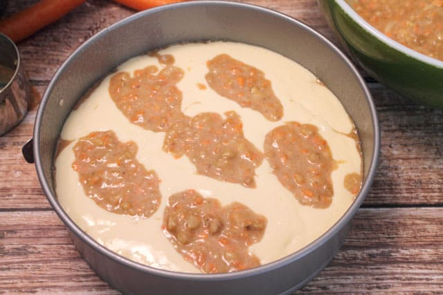 Carrot Cake Cheesecake prep 2CookinMamas