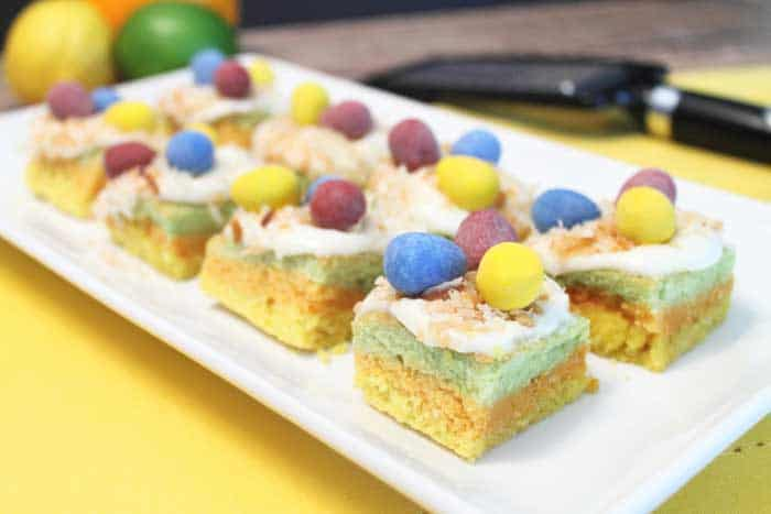 Citrus Sugar Cookie Bars for Easter | 2 Cookin Mamas