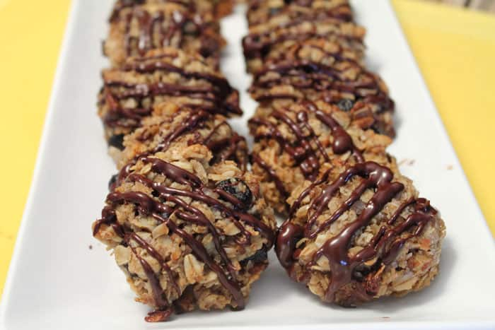 Crunchy Granola Breakfast Cookies plated|2CookinMamas
