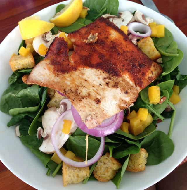 Florida Keys Fish on a salad|2CookinMamas