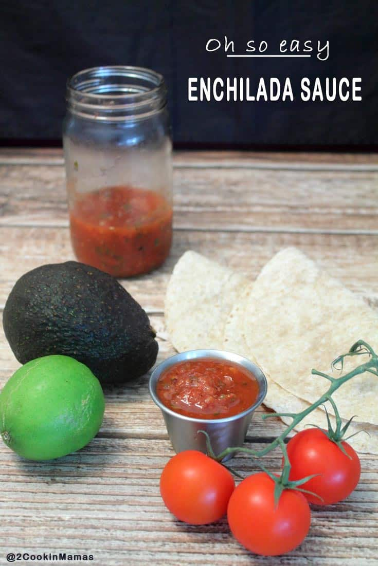 Enchilada Sauce | 2CookinMamas Want enchiladas tonight? This sauce is so easy you can put it together in a matter of minutes. Not only that, it tastes fresh & delicious, so much better than store bought. And you can use it as a salsa too!