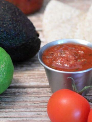Easy Homemade Enchilada Sauce square | 2 Cookin Mamas