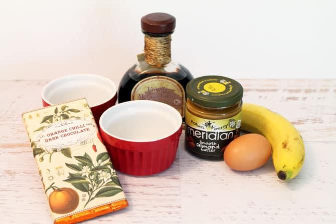 Almond Butter Mug Cake ingredients   2 Cookin Mamas