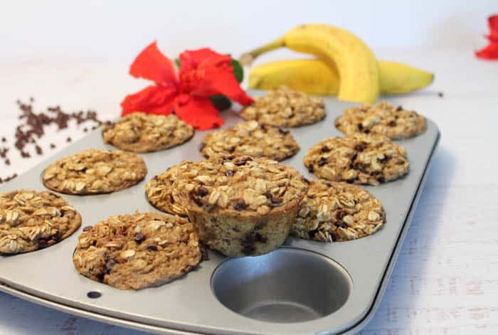 Banana Oatmeal Cups 1| 2 Cookin' Mamas