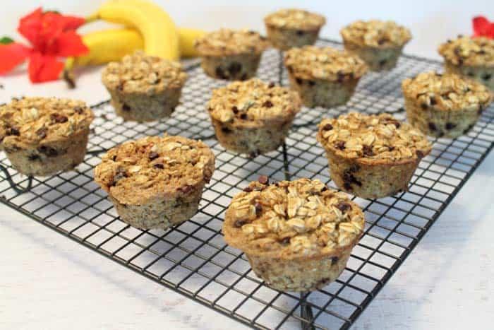 Banana Oatmeal Muffins cooling | 2 Cookin Mamas