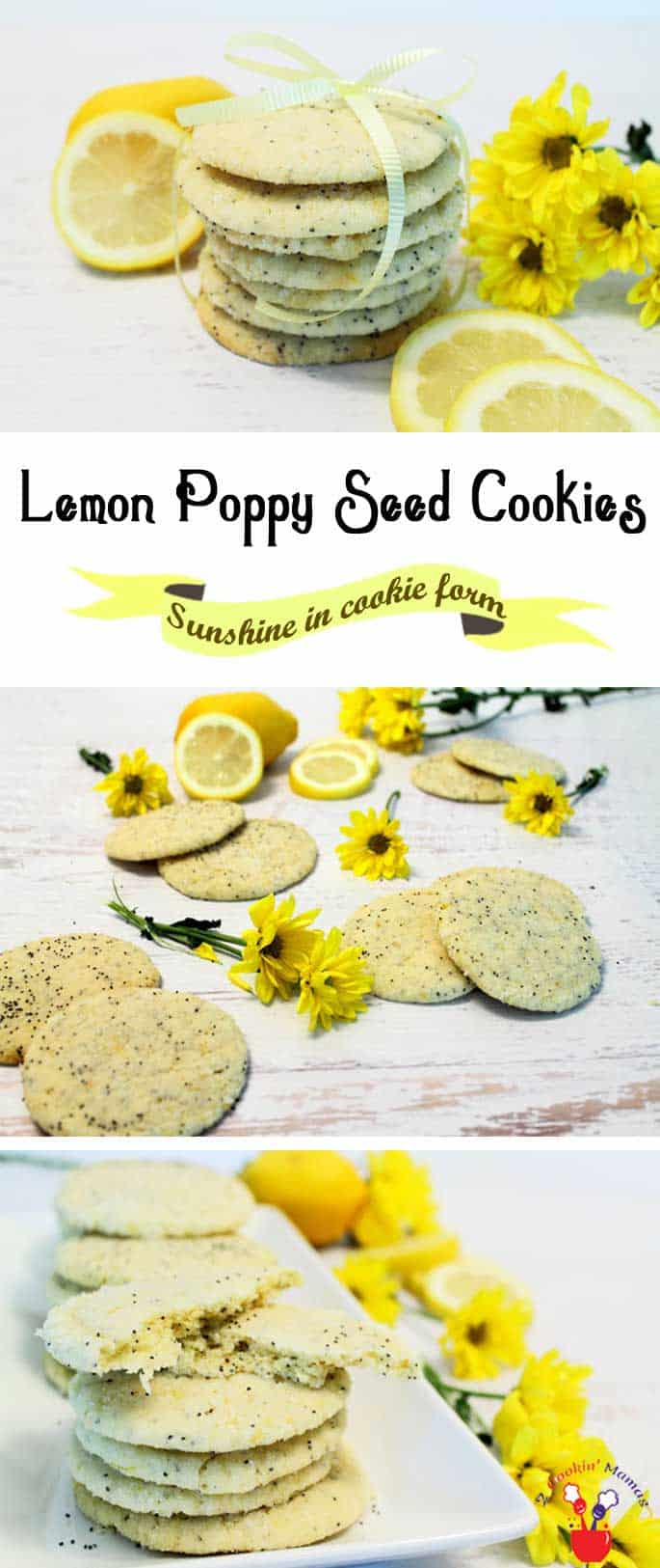 Lemon Poppy Seed Cookies | 2 Cookin Mamas Celebrate summer with these Lemon Poppy Seed Cookies. Zesty cookies that pop with lemon flavor. Soft & chewy inside with a sugary crunch outside.