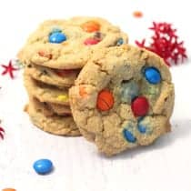 M&Ms Chocolate Chip Cookies square | 2 Cookin Mamas