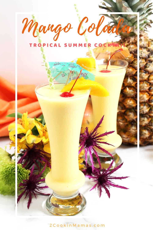 Mango Colada - A Tropical Cocktail