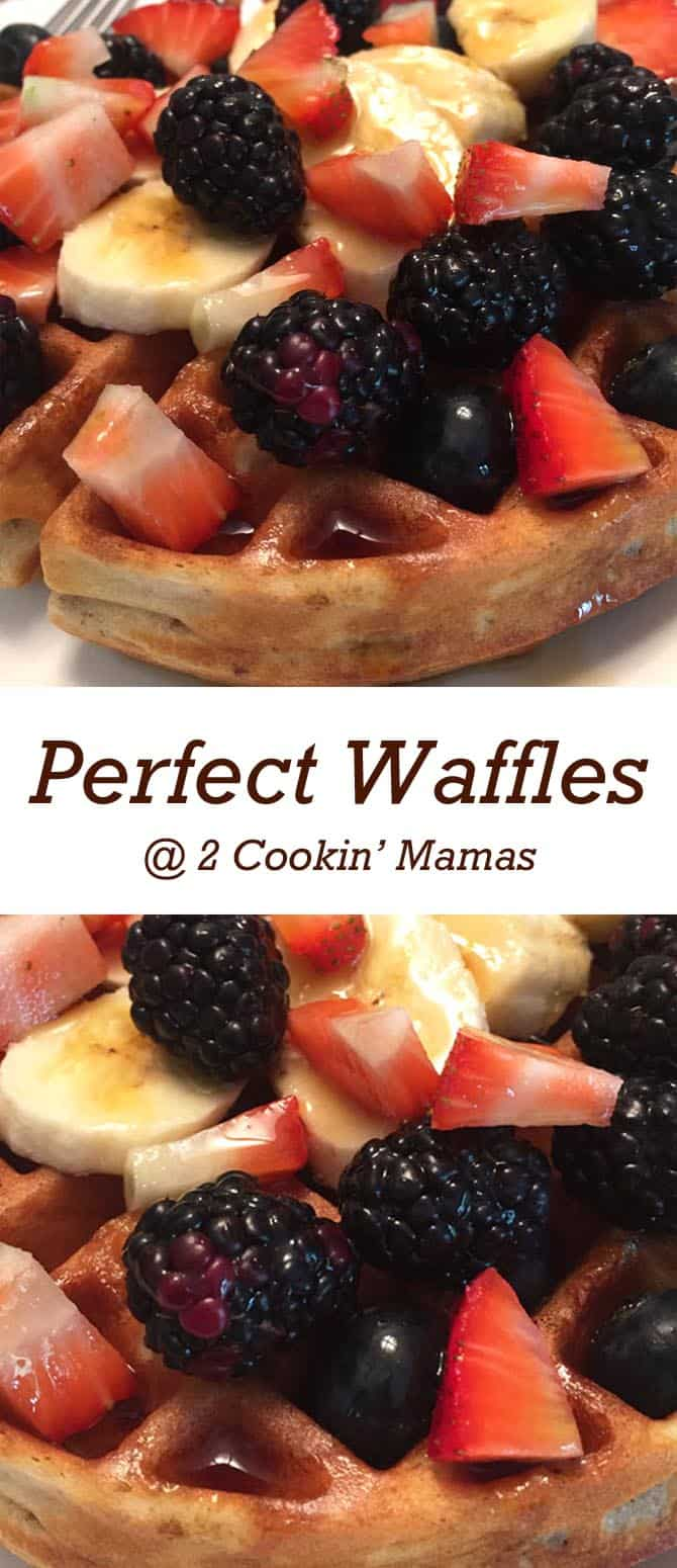 Perfect Waffles | 2 Cookin Mamas It just takes 1 secret ingredient to make these deliciously crispy on the outside, soft on the inside perfect waffles.