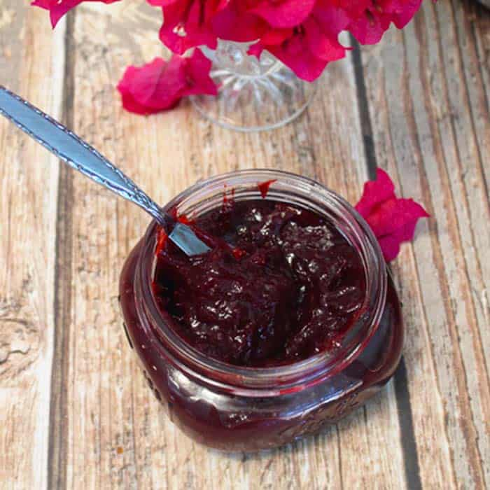 Plum Jam square | 2CookinMamas