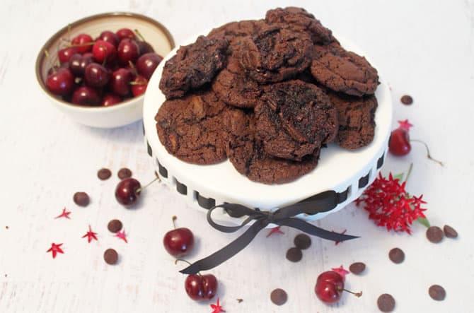 Chocolate Chocolate Cherry Cookies 2   2 Cookin Mamas