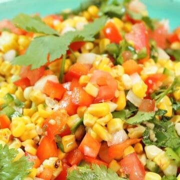 Closeup of salad in bowl.