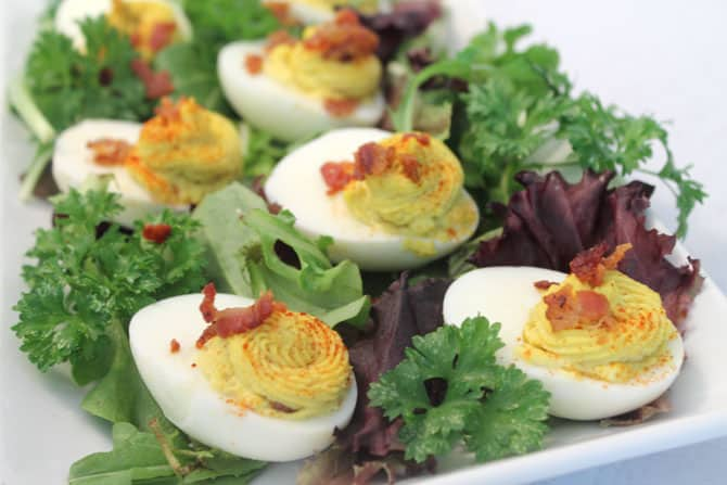 Deviled Eggs with Bacon 4 | 2 Cookin Mamas