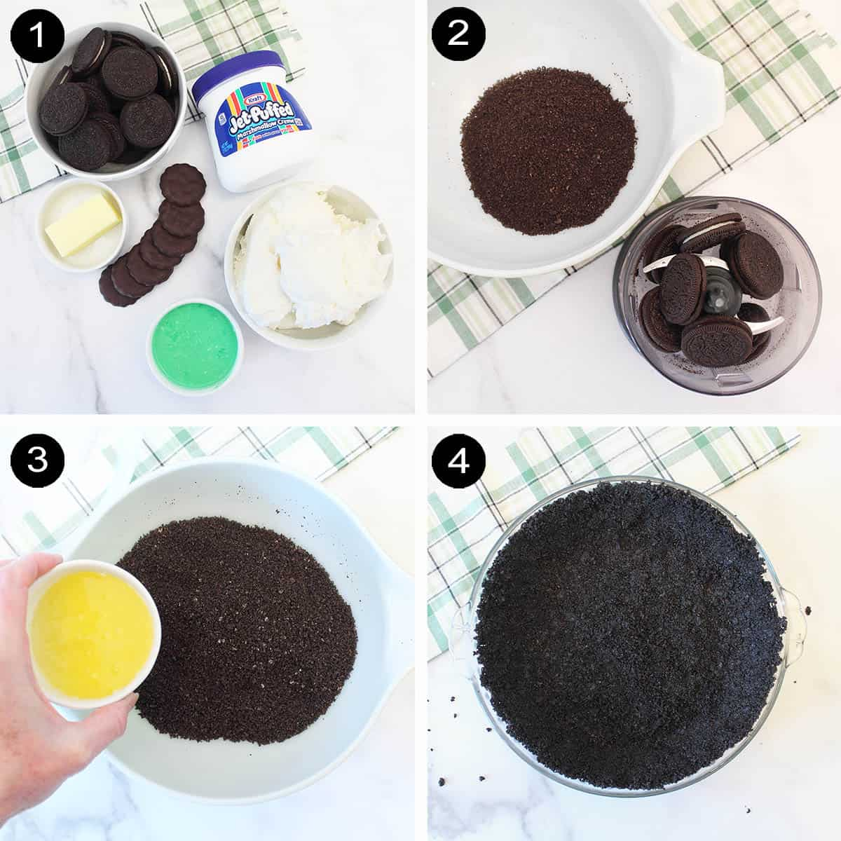 Making Oreo crust prep