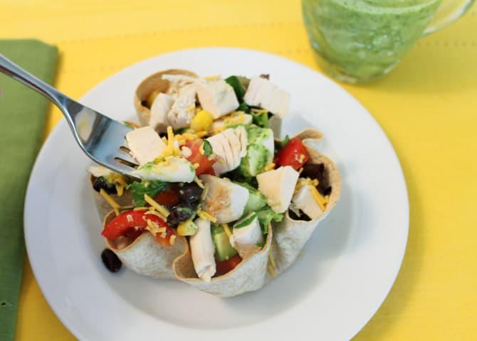 Mexican Chopped Salad closeup   2 Cookin Mamas