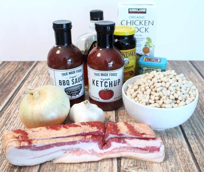Bourbon Baked Beans ingredients | 2 Cookin Mamas