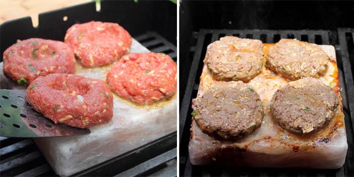 Buffalo Burgers w Jalapeno Bacon on the grill | 2 Cookin Mamas