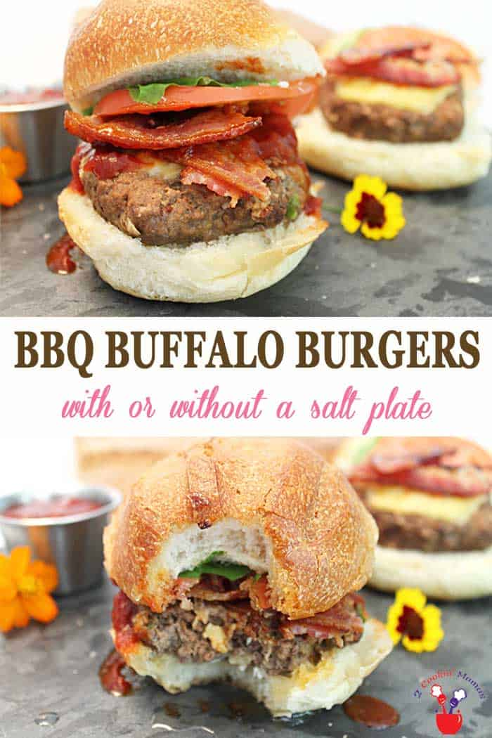 Buffalo Burgers | 2 Cookin Mamas Burgers just seem to go with BBQ but it's time to grill up something out of the ordinary - Buffalo Burgers. They're lean, tasty & awesomely delicious! #burgers #dinner #grilling #recipe #buffaloburgers #ad