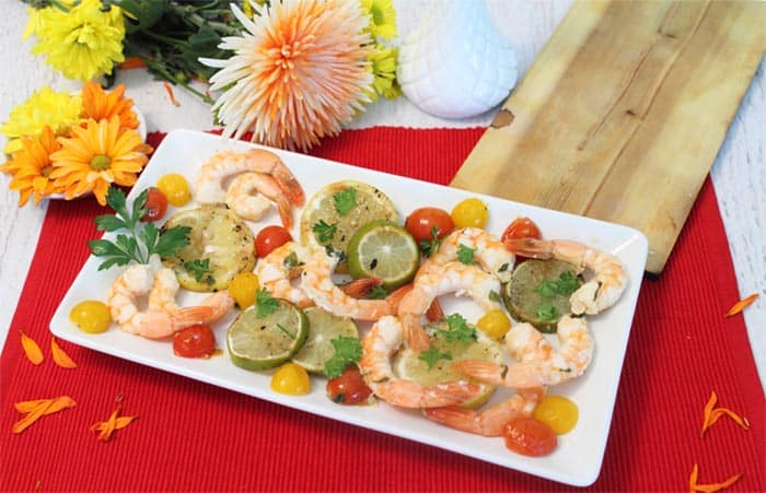 Cedar Plank Grilled Shrimp 2 | 2 Cookin Mamas