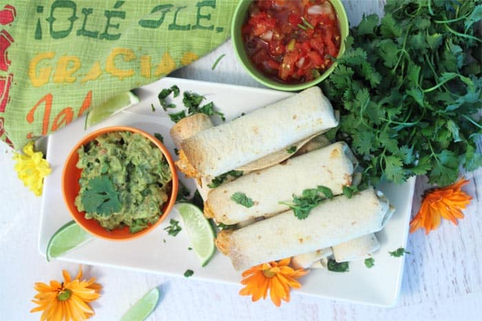 Chicken Taquitos overhead | 2 Cookin Mamas