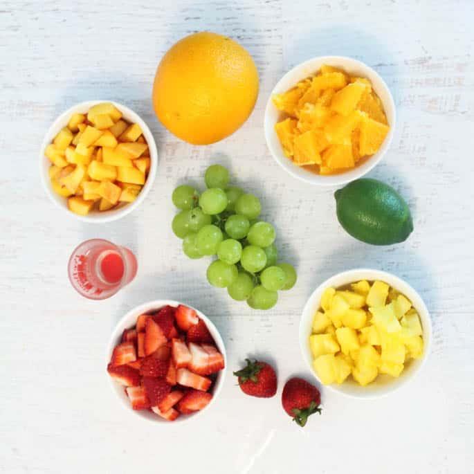 Fruit Cocktail Dessert ingredients | 2 Cookin Mamas