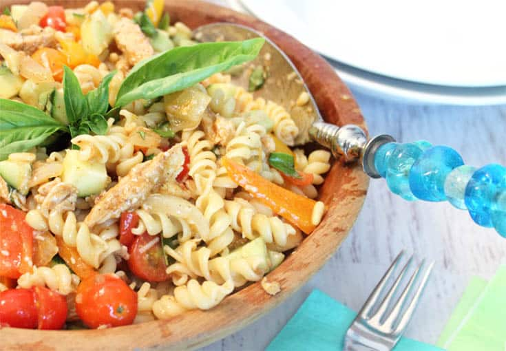 Summer Pasta Salad closeup | 2 Cookin Mamas