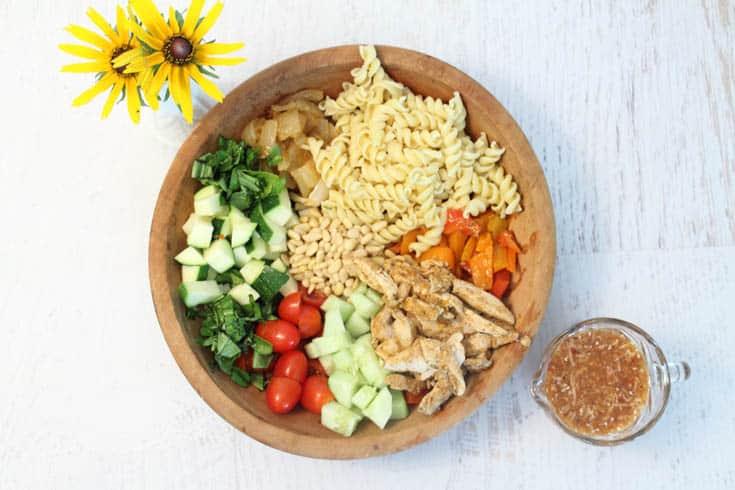 Summer Pasta Salad deconstructed   2 Cookin Mamas