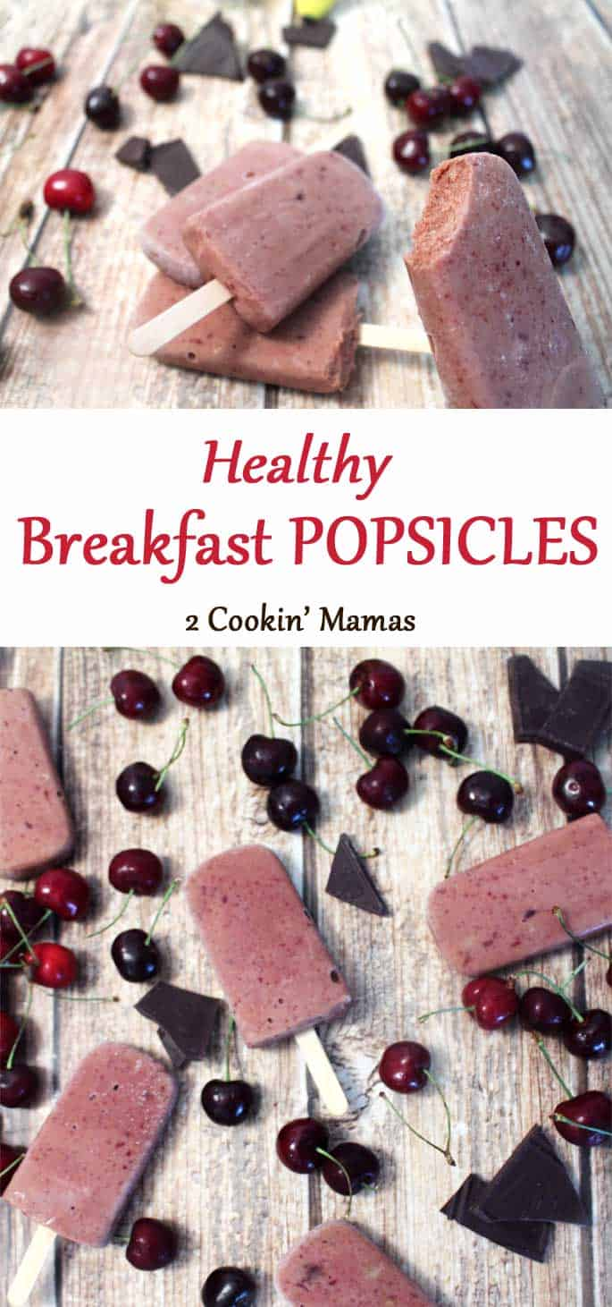 Breakfast-Popsicles | 2 Cookin Mamas A cool & healthy way to start your day. These breakfast popsicles are full of all the protein, vitamins & minerals your body needs to stay healthy. #recipe #breakfast