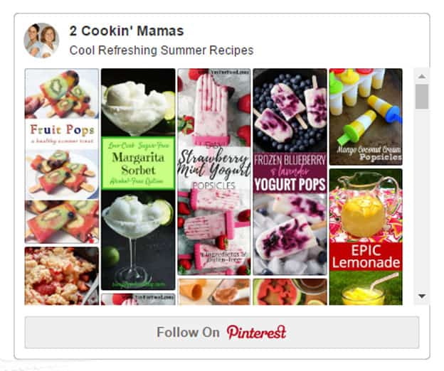 Pinterest summer recipes board with link to Pinterest.