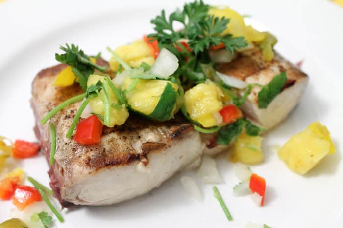 Grilled Mahi Mahi with Pineapple Salsa | 2 Cookin Mamas