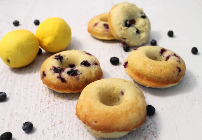 Lemon Blueberry Doughnuts 1 | 2 Cookin Mamas