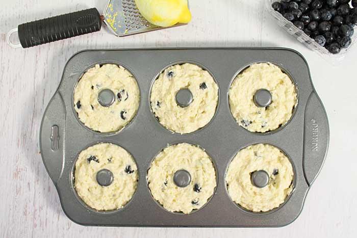 Lemon Blueberry Doughnuts ready to bake A