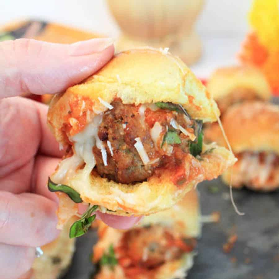 Easy Meatball Sliders - 2 Cookin' Mamas