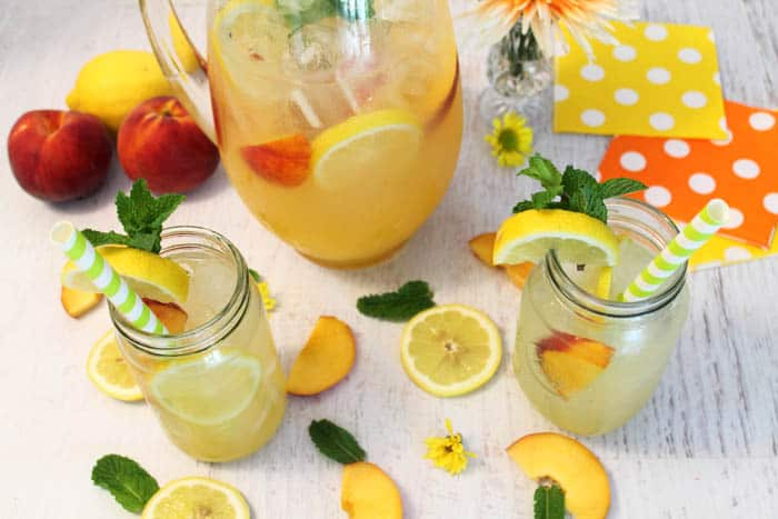 Peach Lemonade 1 | 2 Cookin Mamas