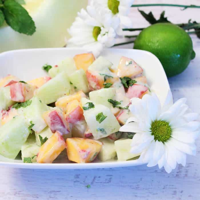 Honeydew Peach Salad square