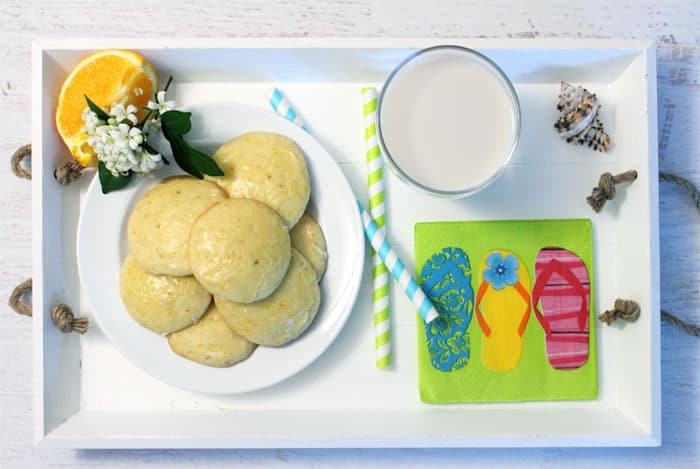 Orange Creamsicle Cookies served | 2 Cookin Mamas