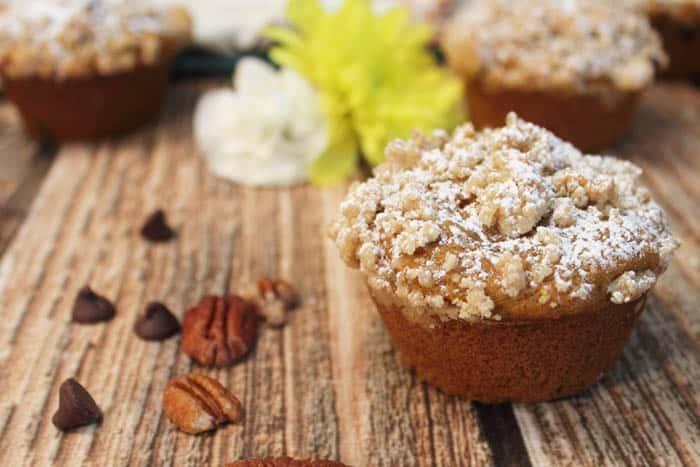 chocolate-chip-pumpkin-muffins-closeup1 | 2 Cookin Mamas