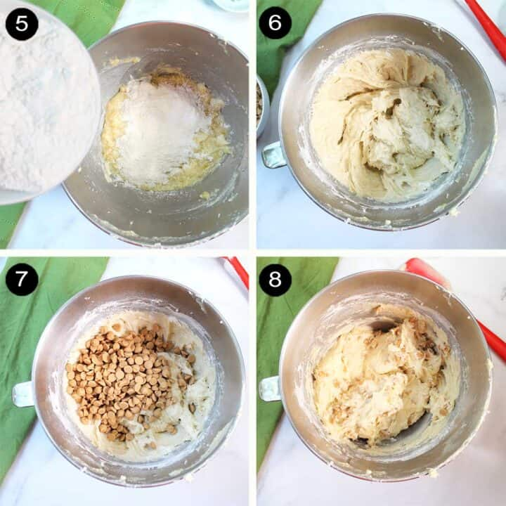Finishing steps to making peanut butter banana cookie dough.