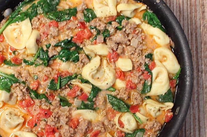 Italian Sausage Tortellini Skillet
