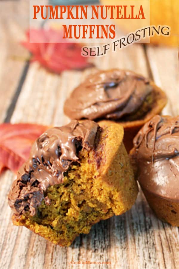 Self-Frosting Pumpkin Nutella Muffins