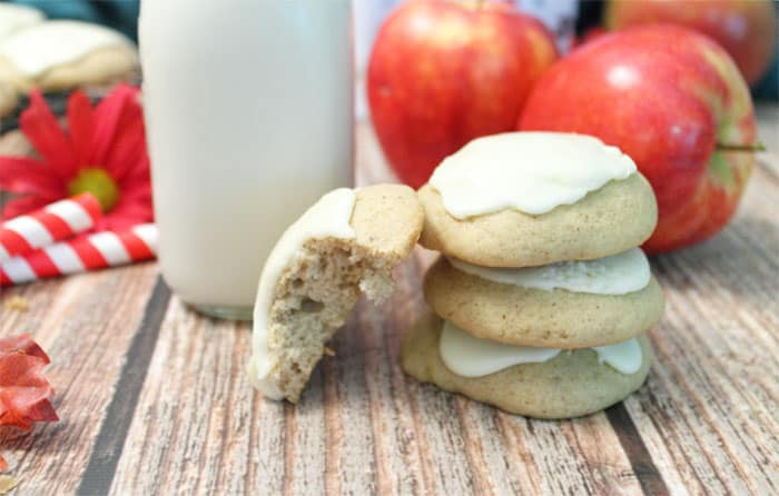 Apple Cider Cookies bite | 2 Cookin Mamas
