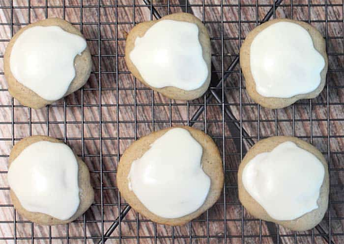 Apple Cider Cookies iced | 2 Cookin Mamas