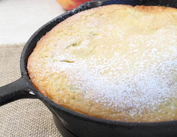 Apple Dutch Baby Pancake closeup | 2 Cookin Mamas