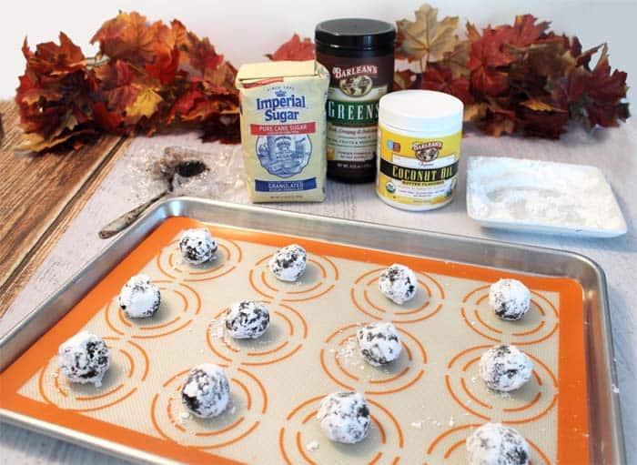 Double Chocolate Crinkle Cookies ingredients | 2 Cookin Mamas