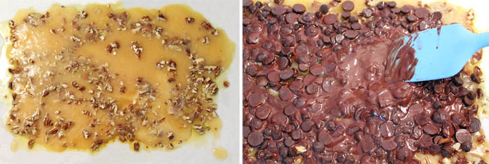 Easy Chocolate Toffee Crunch prep | 2 Cookin Mamas