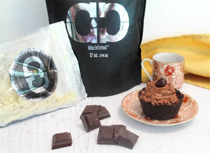 Mocha Cheesecake Cookie Cups with Caveman Coffee | 2 Cookin Mamas